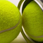 What is a tennis ball made from?