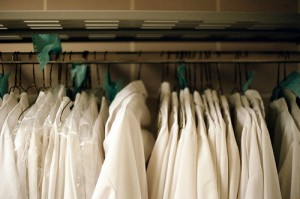Lab coats in hospitals can be breeding grounds for dangerous microorganisms