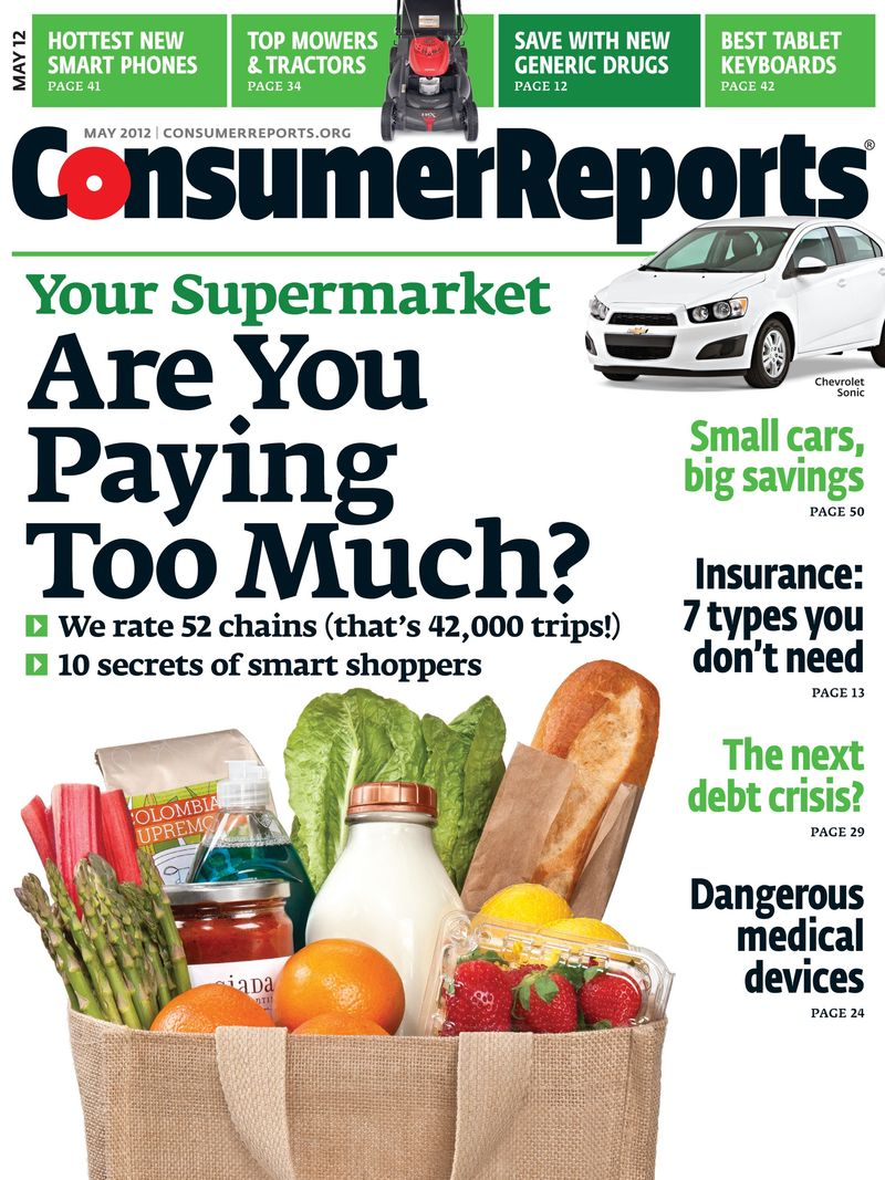 May 2012 issue of Consumer Reports tackles medical device safety