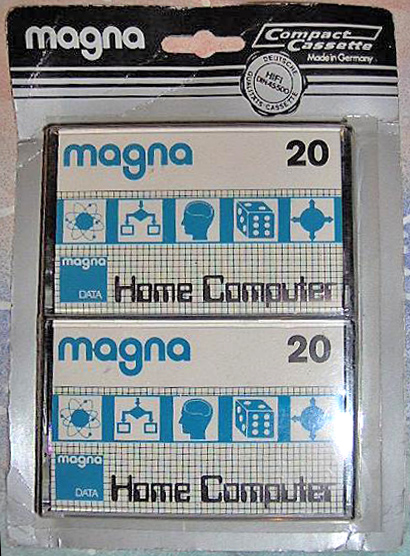 Computer storage cassettes from the early days of home computing.